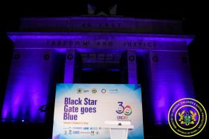 Black Stars Gate Goes Blue