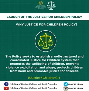 launch of the justice for childern policy